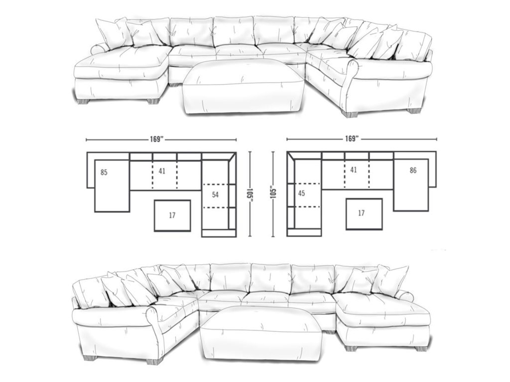 Lane Jonah3 Piece Sectional Sofa