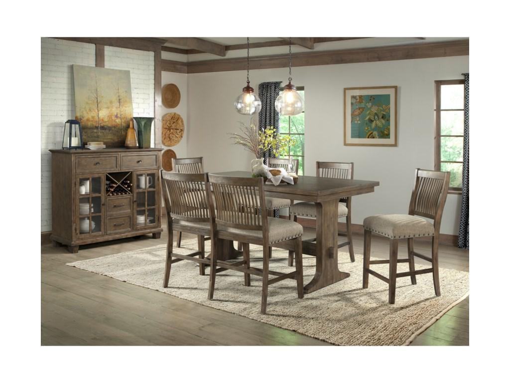 Lane 50406-Piece Counter Height Table and Chair Set