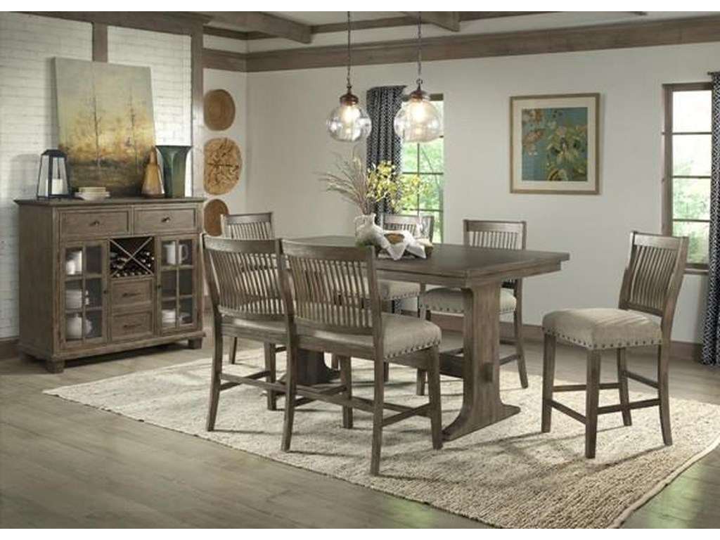 Dallas Counter Height Dining Set includes Table and 4 Stools by Hawthorne  Hill at Morris Home