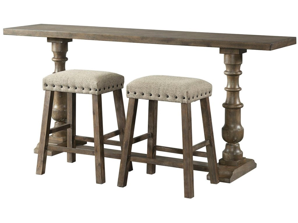 Lane 7040 Rustic Sofa Bar Table and Stool Set | Rune\'s ...