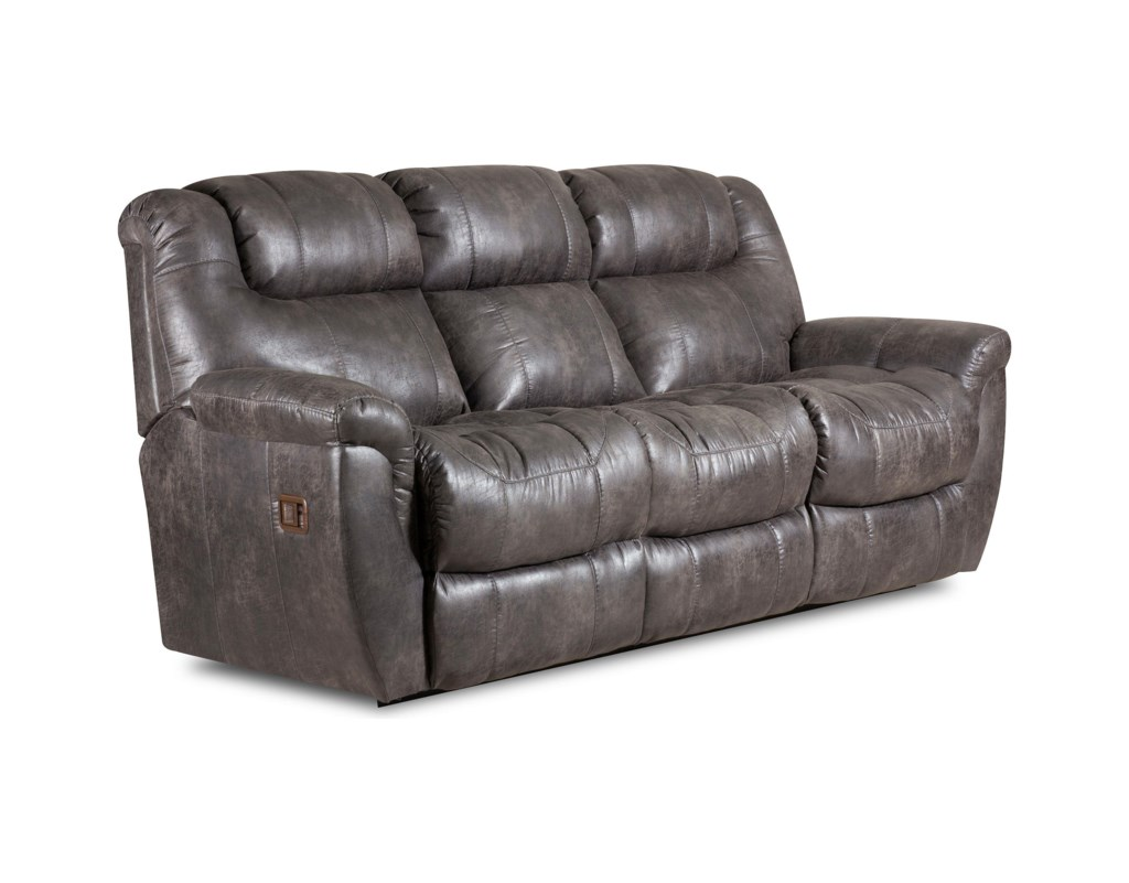Lane Montgomery Double Reclining Sofa With Drop Down Table And