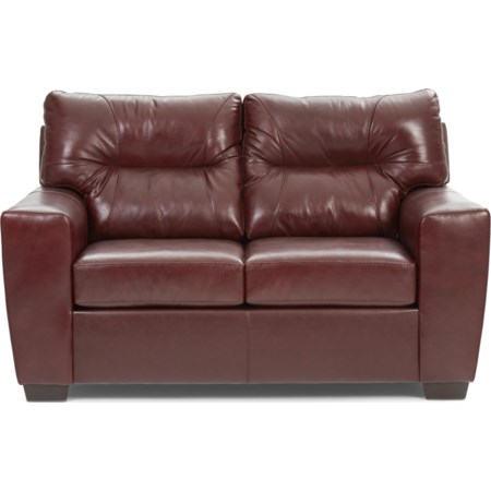 Noah Leather Match Loveseat