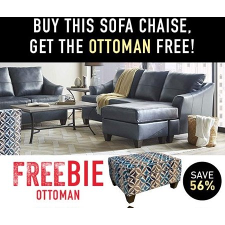 Novaleigh Sofa Chaise with Freebie!