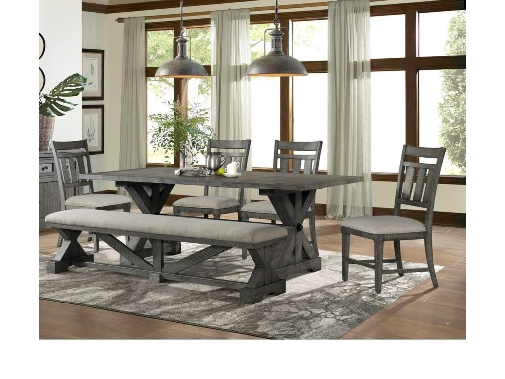Lane Old Forge 6-Piece Table, Chair, and Bench Set