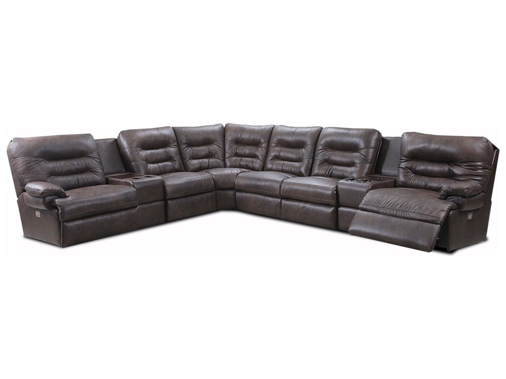 Lane PeaceCasual Power Reclining Sectional