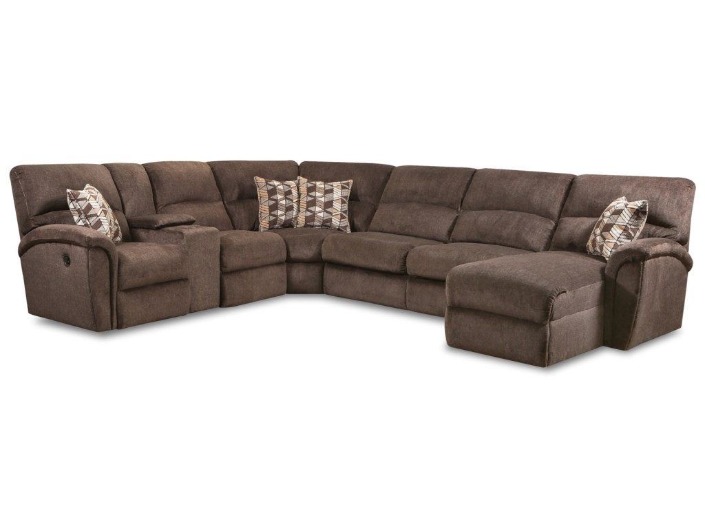 Lane Stirling4-Piece RAF Chaise Power Reclining Sectional