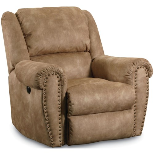 Lane Summerlin Traditional Matching Glider Recliner With Rolled Arms