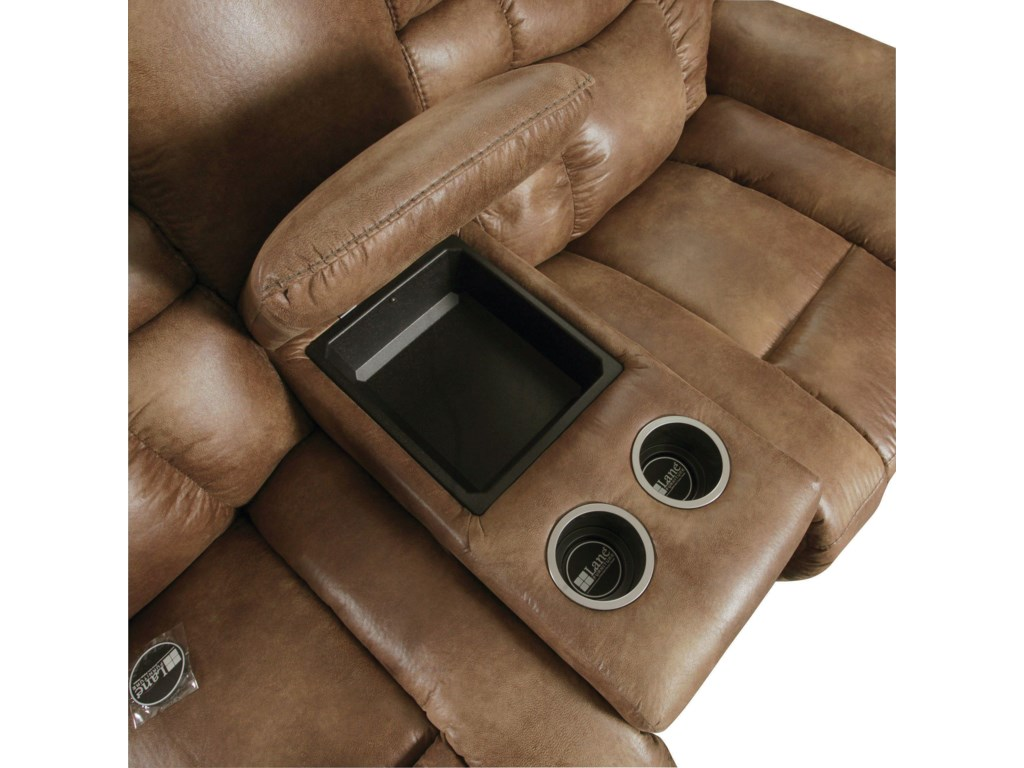 Storage Ideal for Remotes while Cup Holders Keep Beverages Safe