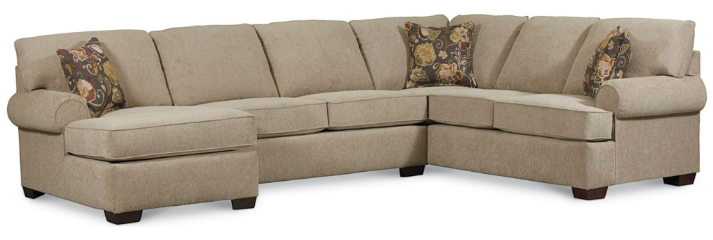 Lane Vivian Transitional 3 Piece Sectional Sofa Darvin Furniture