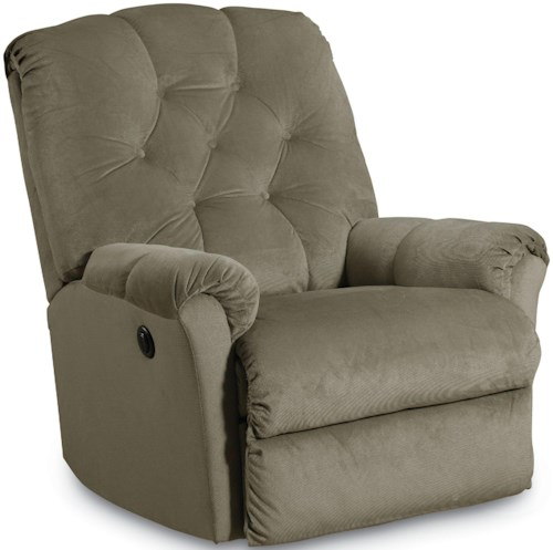 Lane Wallsaver Recliners Miles Pad Over Chaise Tufted Back Power Wall Recliner