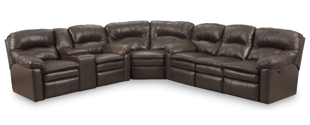 Lane Express Touchdown Quick Ship Reclining Sofa Sectional With