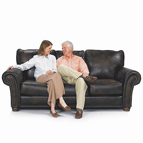 Lane Benson Stationary Sofa With Nailhead Trim Westrich Furniture Liances Sofas