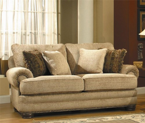Lane Stanton Stationary Loveseat With Nailhead Trim