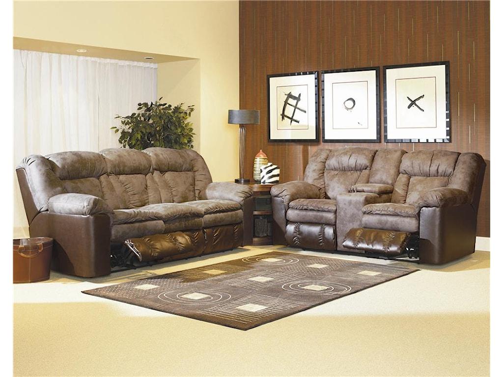 Lane TalonDouble Reclining Console Sofa
