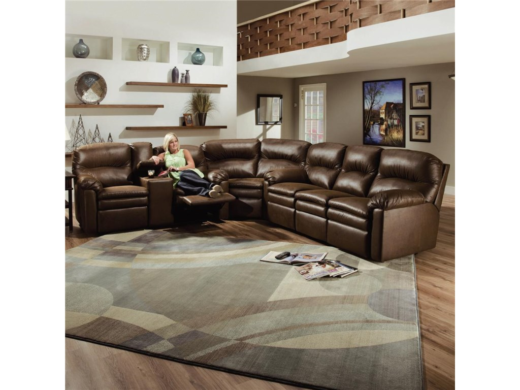 Shown As Sectional Component With Wedge and Double Reclining Sofa