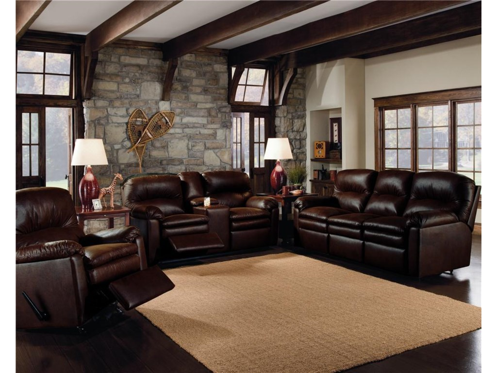 Shown With Double Reclining Console Sofa, and Double Reclining Sofa