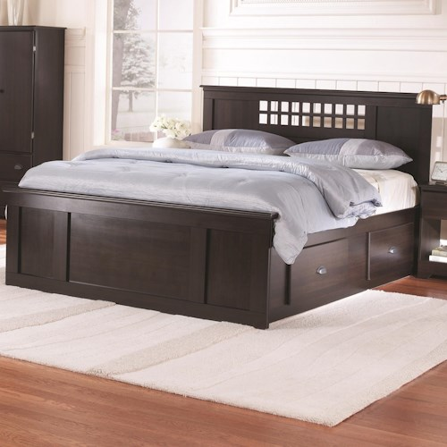 Lang Bayfield Queen Panel Captains Bed