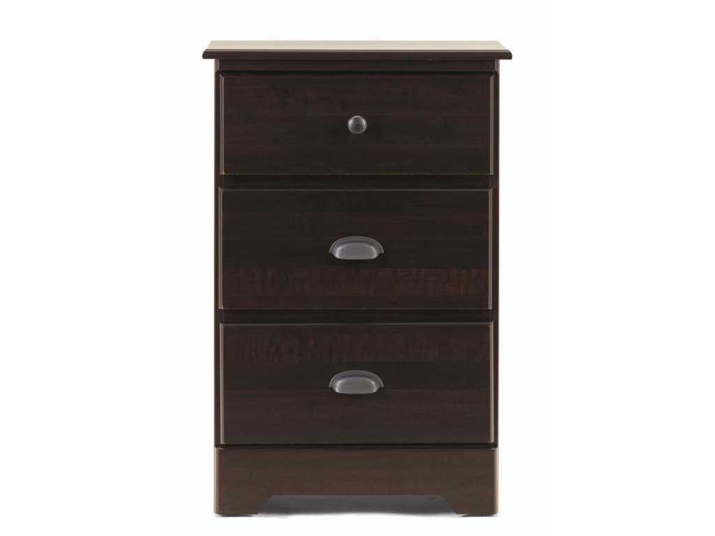 Lang Bayfield3 Drawer Nightstand with Roller Glides