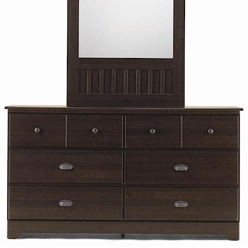 Lang Bayfield 6 Drawer Dresser with Roller Glides