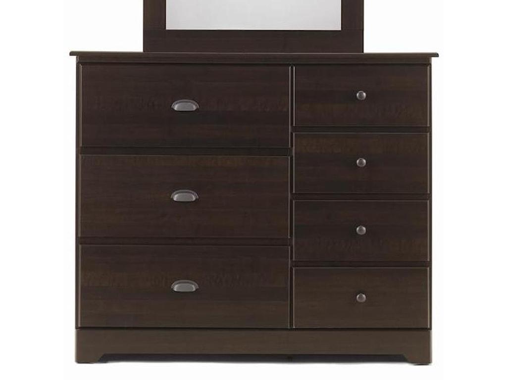 Lang Bayfield7 Drawer Dresser with Roller Glides