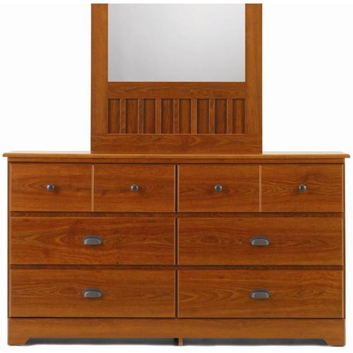 Lang Bayfield 6 Drawer Dresser with Roller Glides