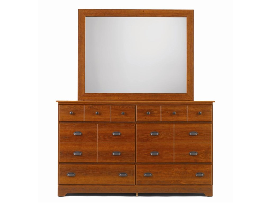 Lang Bayfield6 Drawer Dresser & Framed Mirror