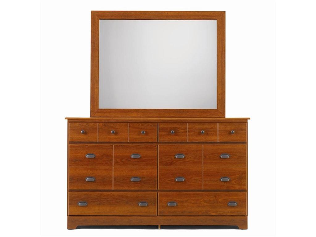 Lang Bayfield6 Drawer Dresser & Framed Mirror
