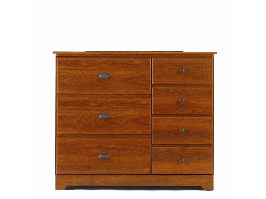 Lang Bayfield7 Drawer Dresser & Panel Mirror