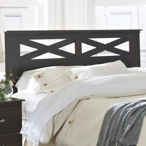 Lang Berlin Queen Panel Headboard with X-Design | A1 Furniture ...