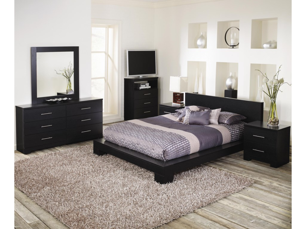 Lang Brooklyn6 Drawer Dresser with Mirror Combination
