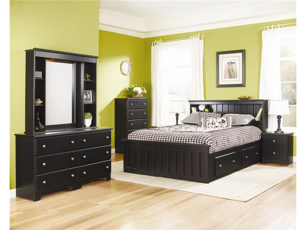 Lang ColumbiaQueen Bookcase Captains Bed