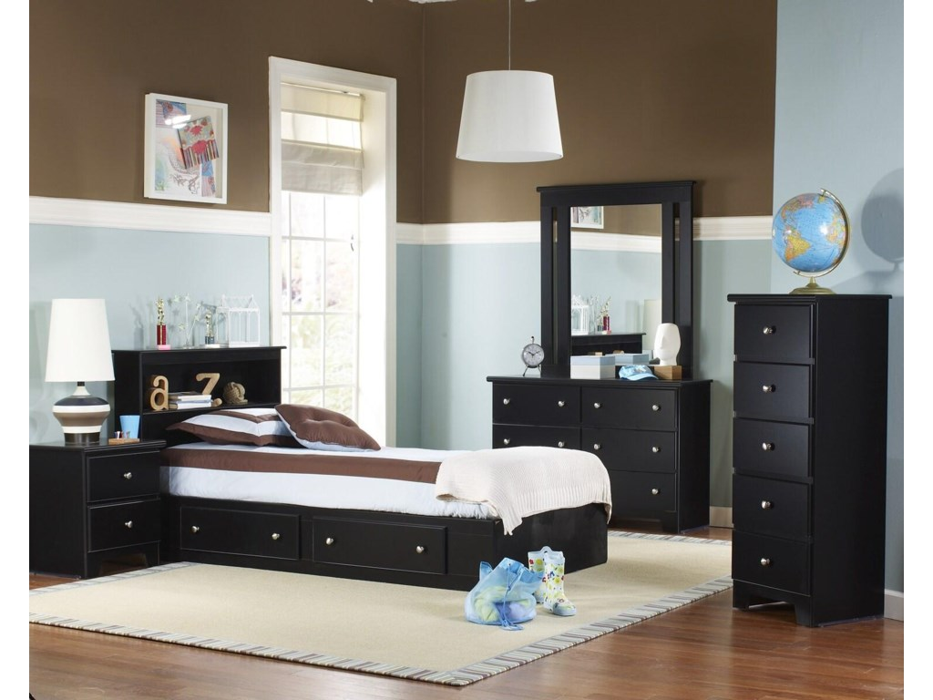 Lang ColumbiaTwin 2 Drawer Mates Bed