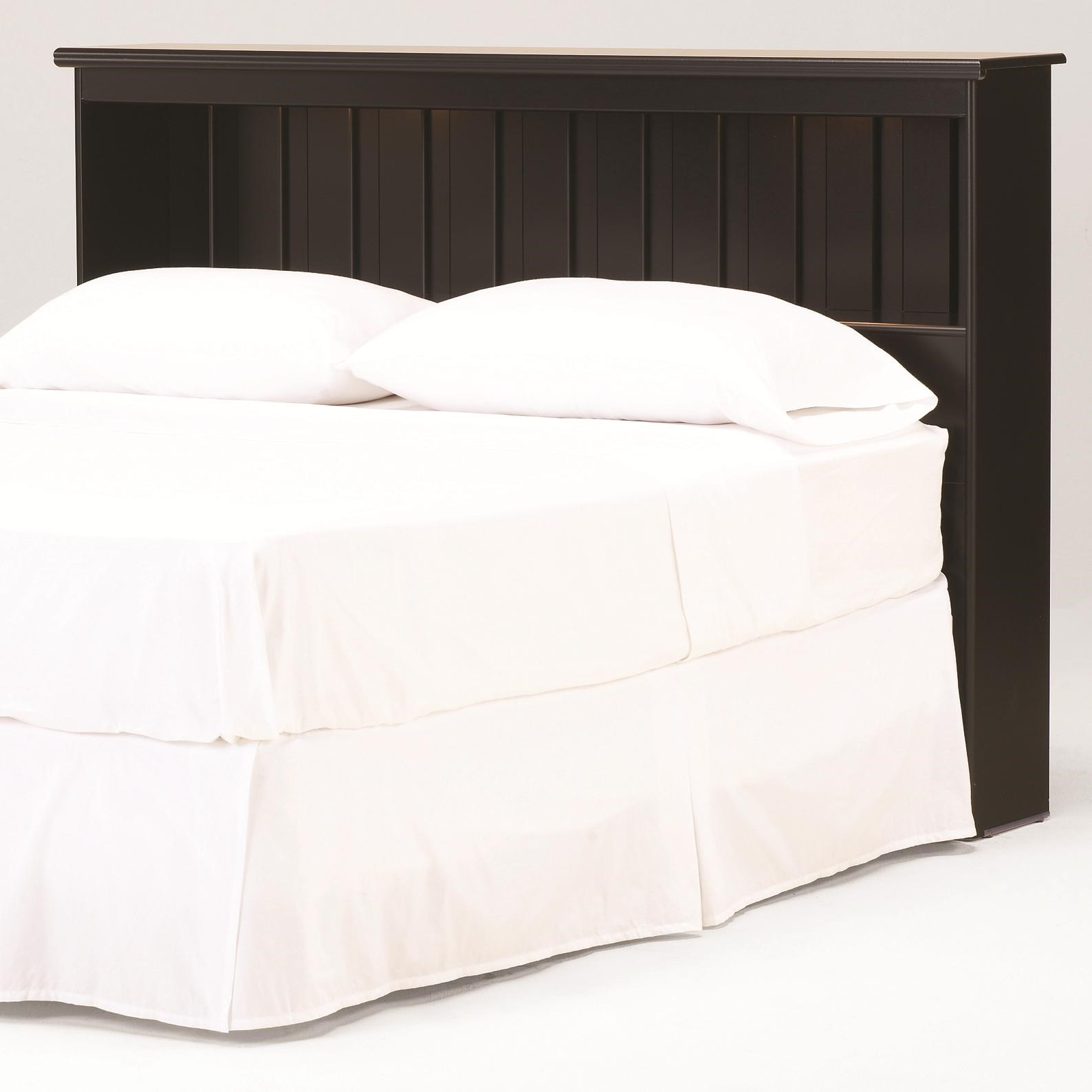Columbia Full Queen Bookcase Headboard With Lights