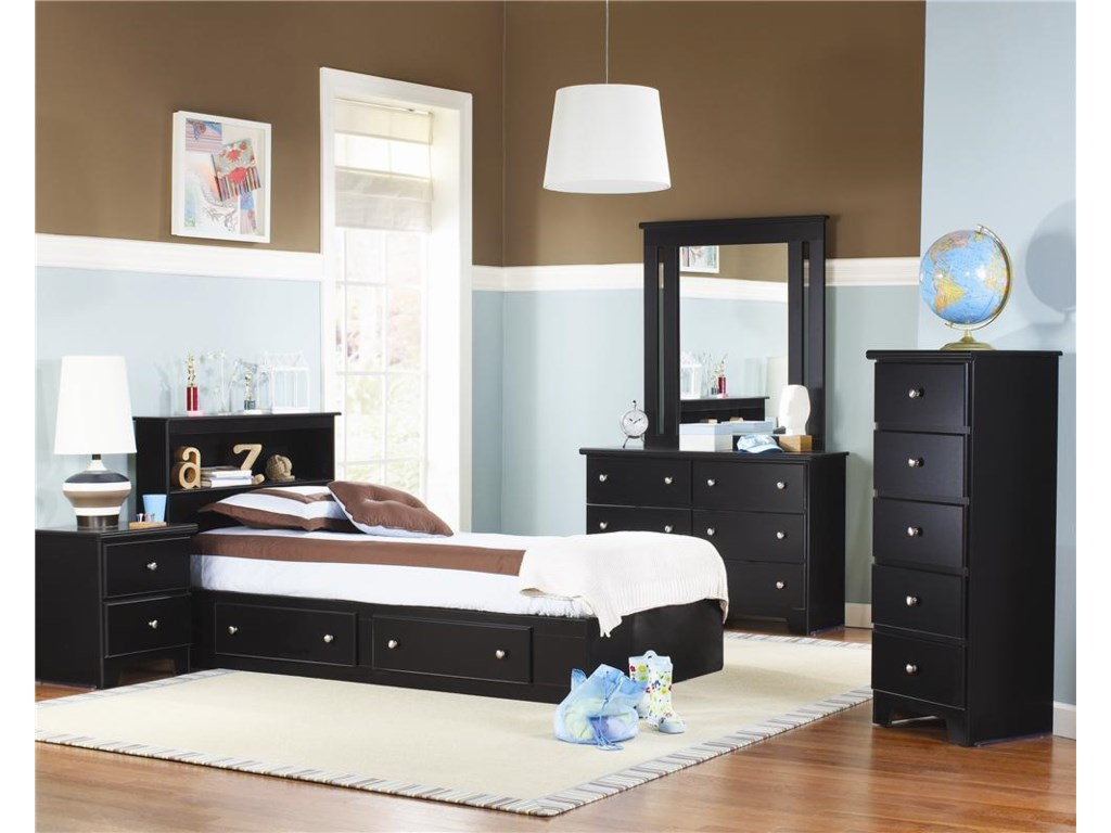 Lang Columbia6 Drawer Dresser with Roller Glides