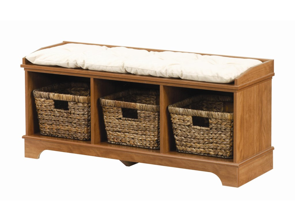 Hartland Entry Bench With Accent Baskets By Lang