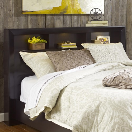Lang Hudson King Shadow Headboard with 3 Storage Compartments