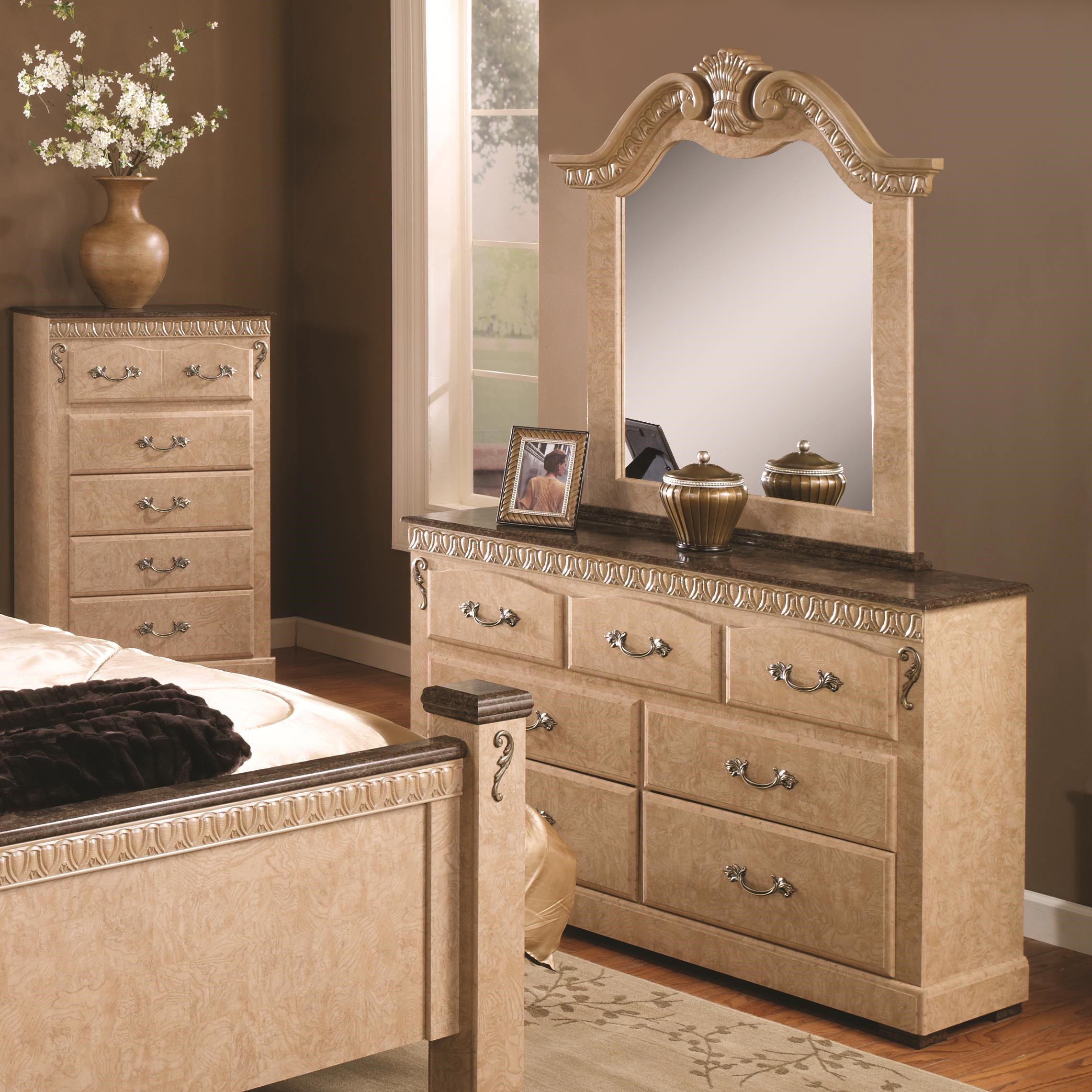 Amazing Lang Kenosha 7 Drawer Dresser U0026 Decorative Mirror