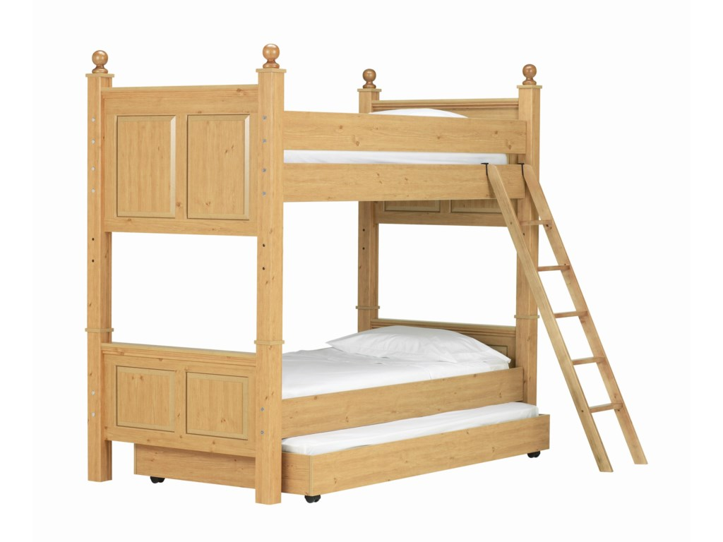 Lang MadisonTwin Over Twin Bunk Bed with Trundle Bed