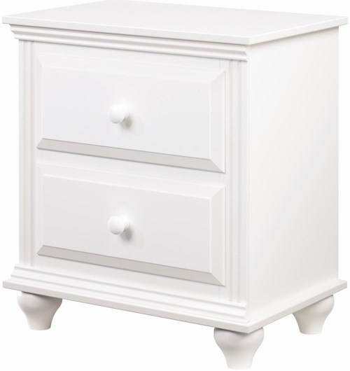 Lang Madison 2 Drawer Night Stand with Roller Glides