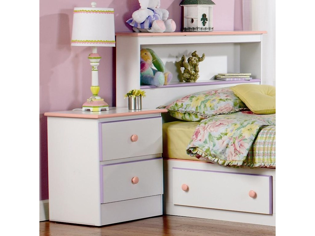 Lang Miami2 Drawer Nightstand with Roller Glides