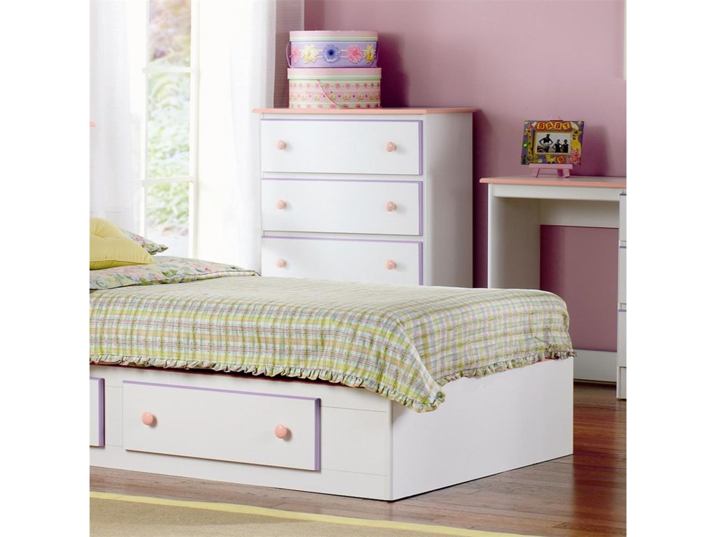 Lang Miami4 Drawer Chest with Roller Glides