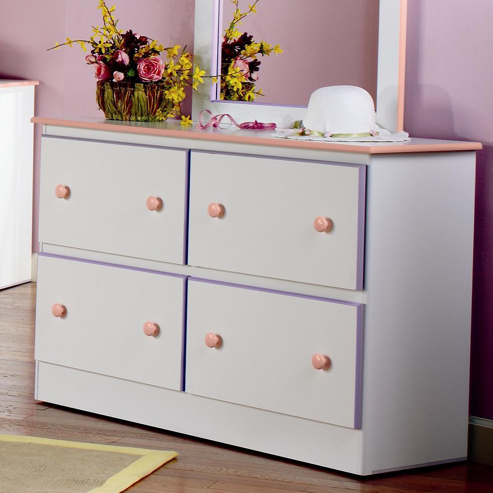 Superb Lang Miami 4 Deep Drawer Dresser With Roller Glides