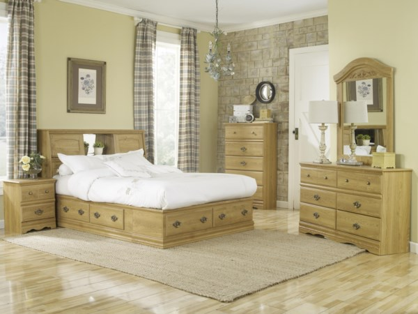6 Drawer Queen Bookcase Bed Bedroom Group