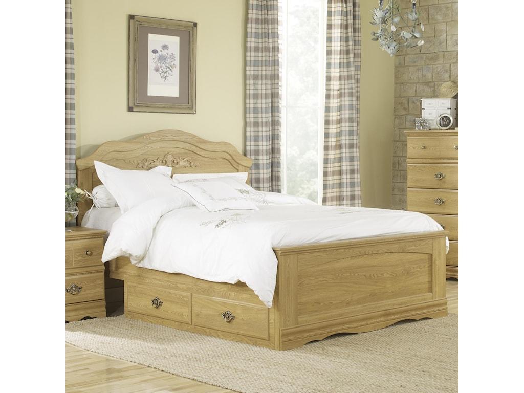 Lang Oak CreekQueen Panel Bed