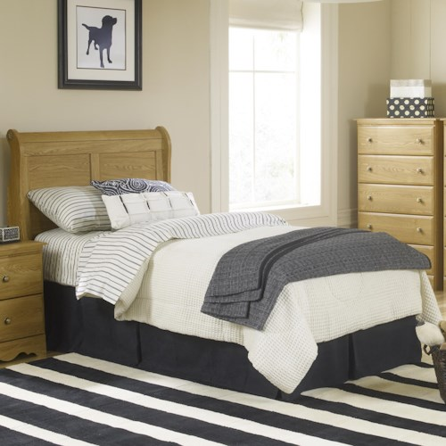 Lang Oak Creek Full Junior Sleigh Headboard with Panel Detail
