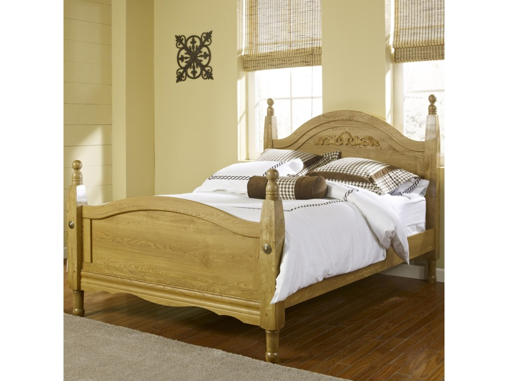 Lang Oak CreekKing Wood Post Bed
