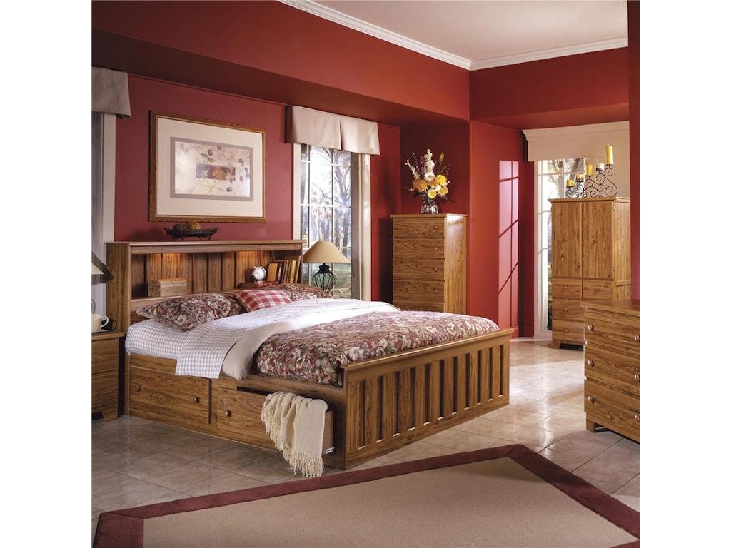 Lang Shaker4 Drawer 2 Door Armoire