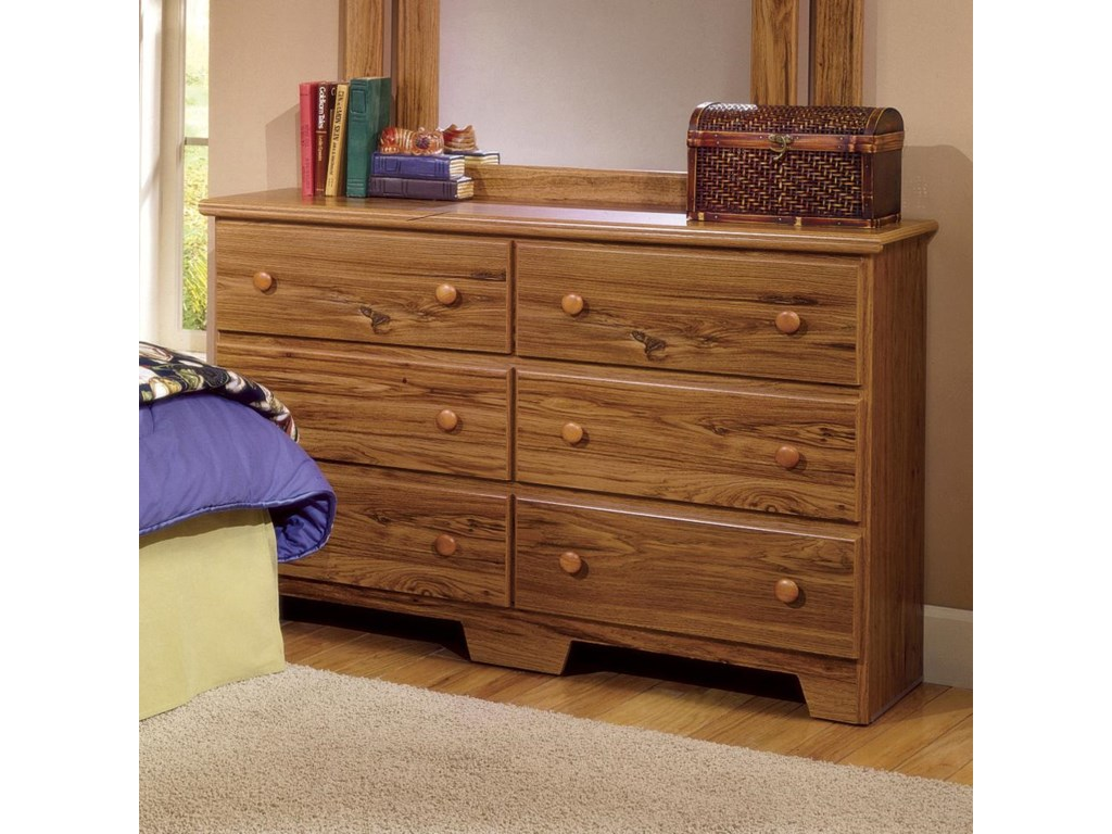 Lang Shaker49 Inch 6 Drawer Dresser and Mirror Set