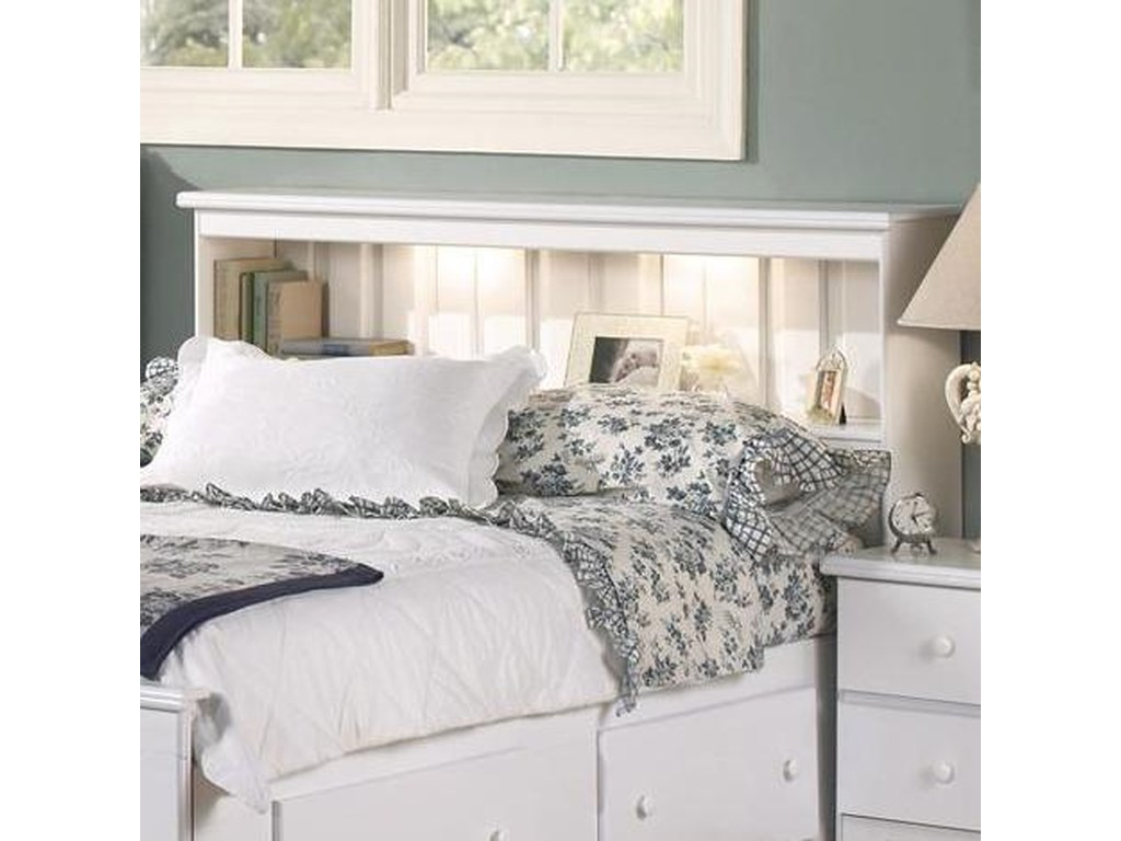 Lang ShakerFull Bookcase Headboard with Lights