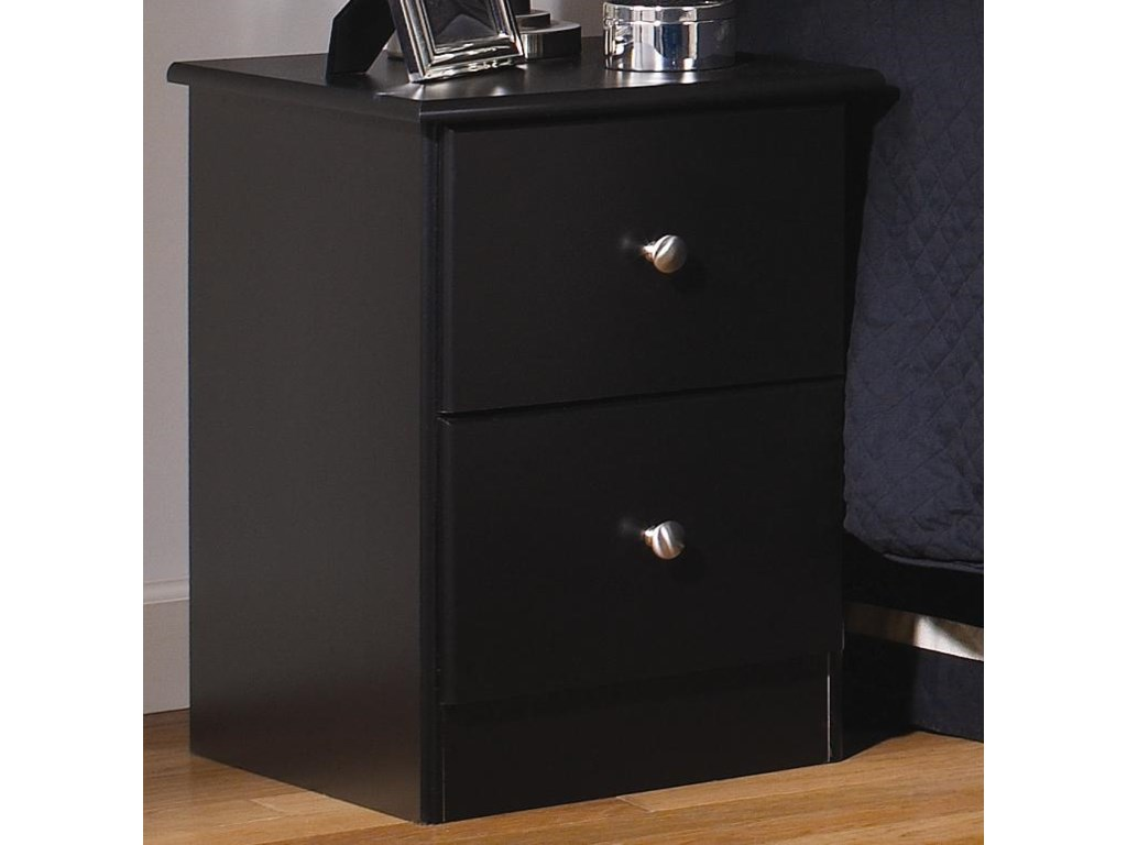 Lang Special2 Drawer Night Stand with Roller Glides